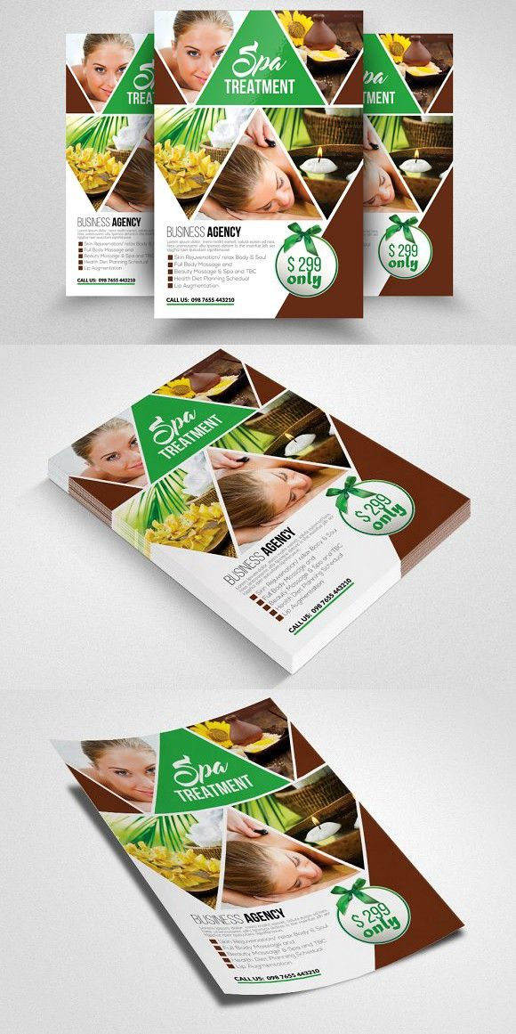 Beauty Spa Flyer Templates Flyer Template Card Templates And