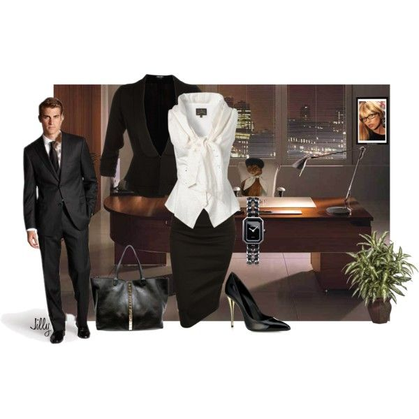 At the Office, created by jillgrimm on Polyvore