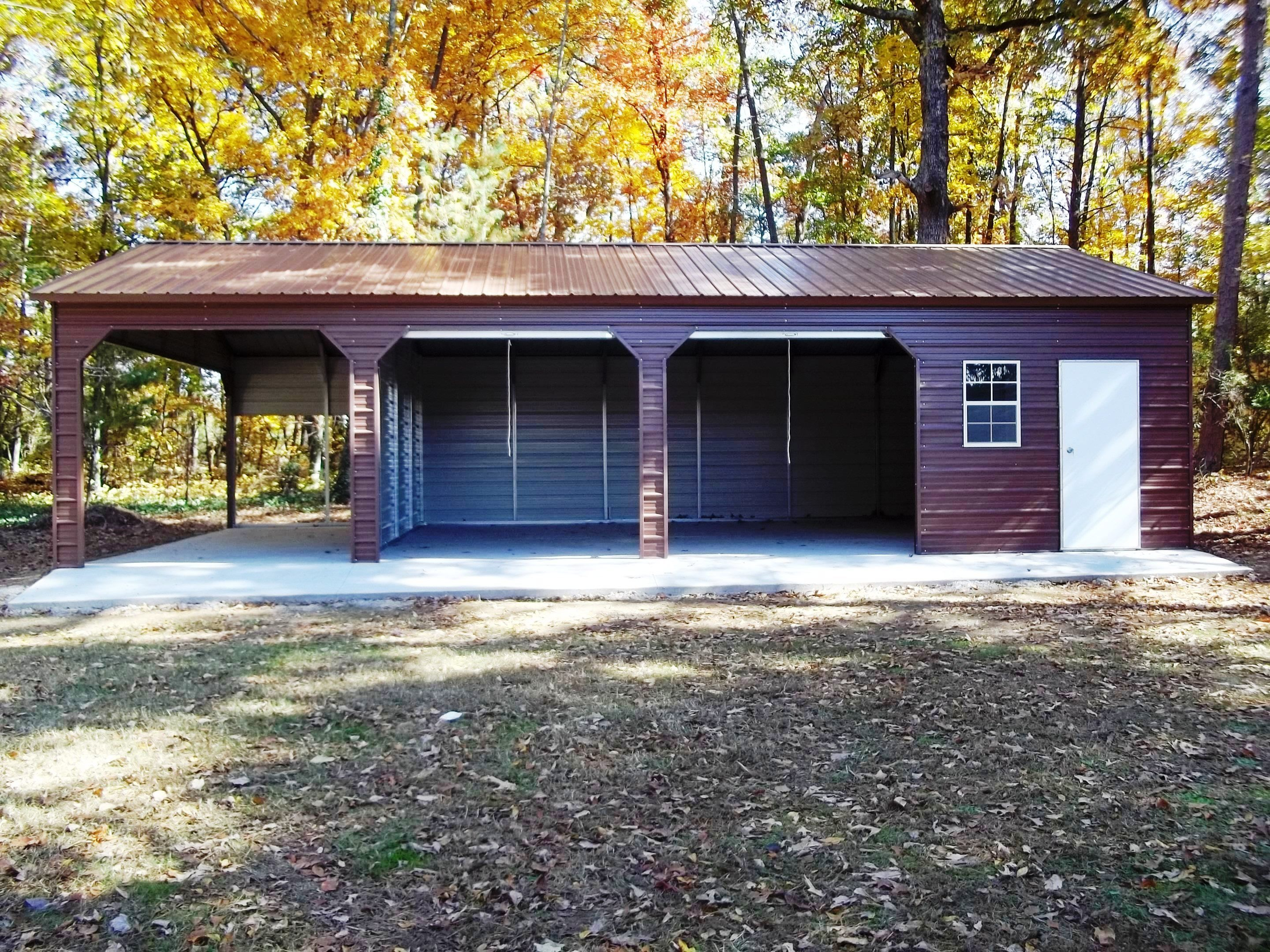 Triple Side Entry Combo Garage R&B Metal Structures