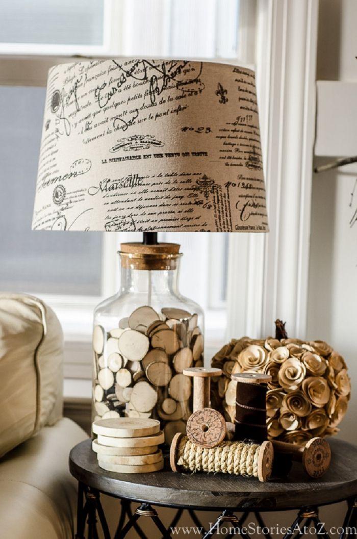 Vintage Deko Nachttischlampe Spulen Retro Ideen Frs Wohnzimmer Einrichten Und Dekorieren