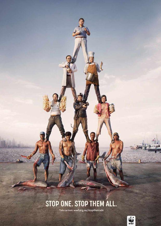 WWF Adverts Against Poaching #advertising #wwf #ad #pub #creativity #publicité #poster #affiche #design #campaign