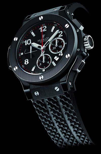 "c3db4a08d4c Hublot Big Bang ""Black Magic"" chronograph watch"