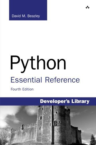 Python Essential Reference 4th Edition Addison Wesley P Book Challenge Reference Data Science