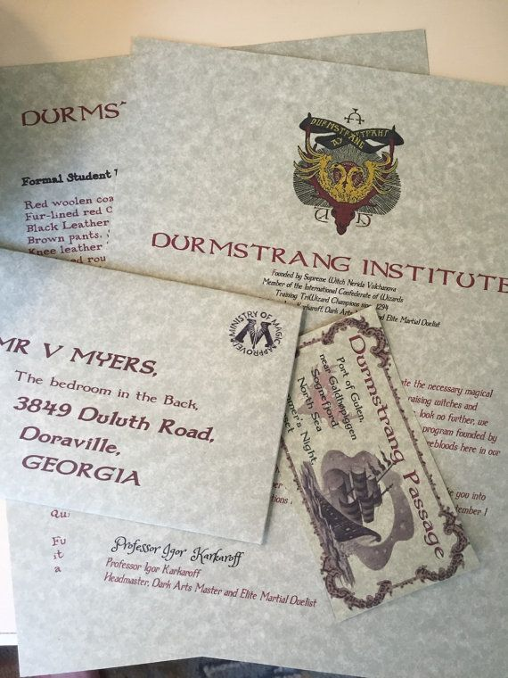 Durmstrang Letter By Lettersfromhogwarts On Etsy Harry Potter Aesthetic Harry Potter Rpg Harry Potter Set It's not illogical that durmstrang might be operating from somewhere in siberia. harry potter rpg