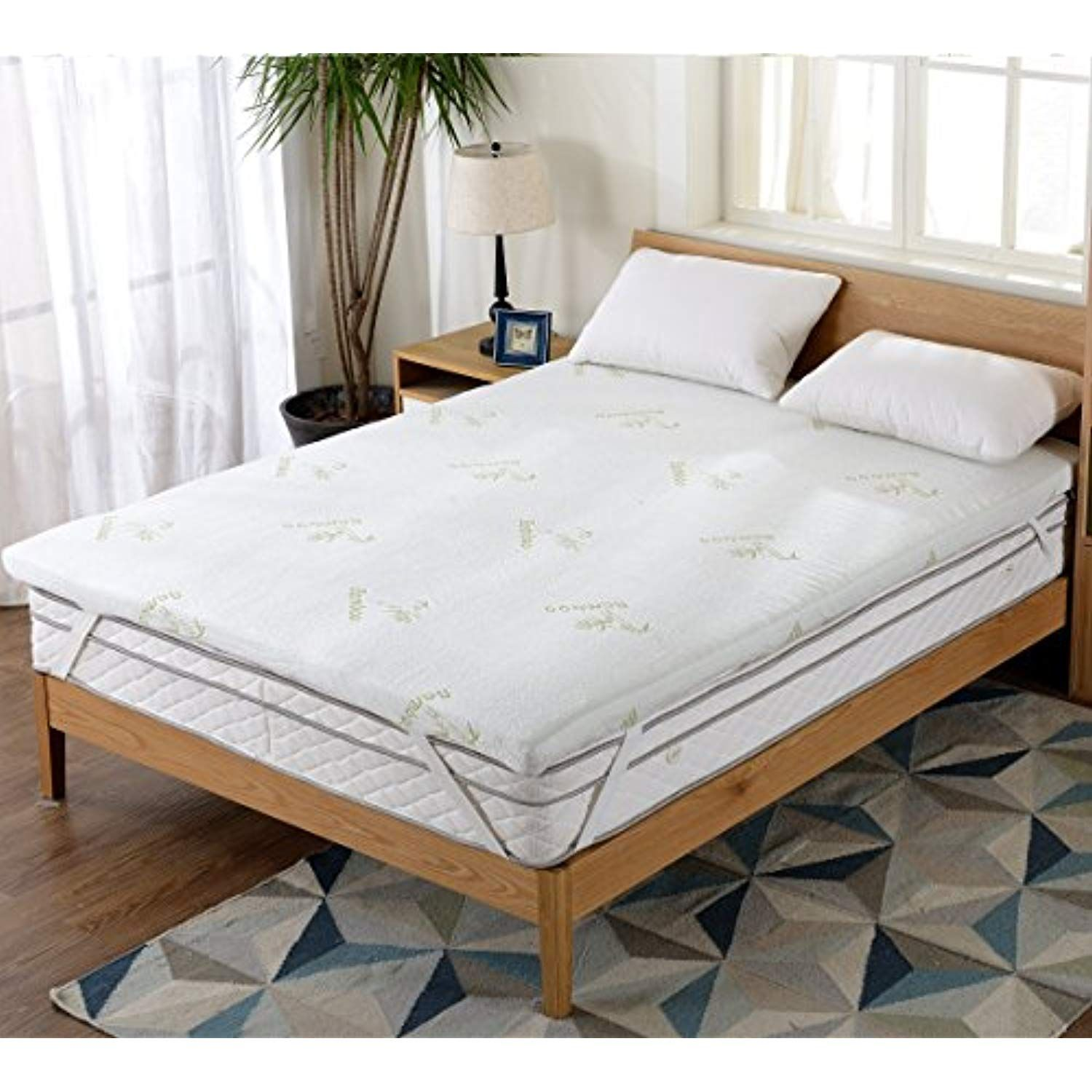 Cheer Collection Gel Infused Memory Foam Mattress Topper