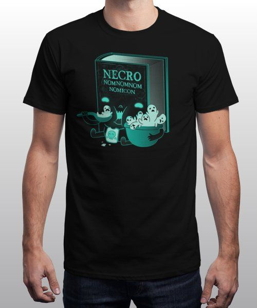 """Necronomnomnomicon"" is today's £9/€11/$12 tee for 24 hours only on Pin this for a… 