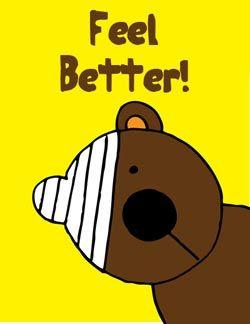 Get well soon eGifter greeting card!