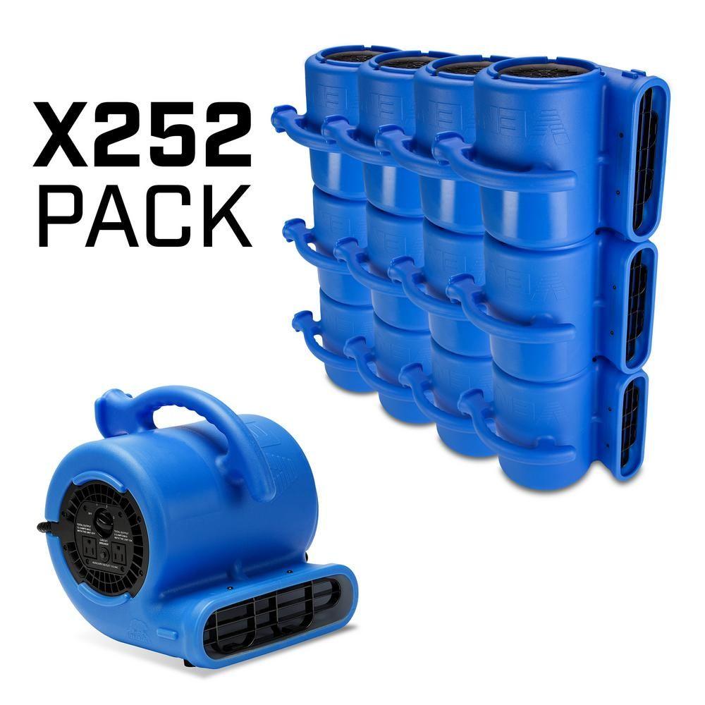 VP-25 1/4 HP 900 CFM Air Mover for Water Damage Restoration Stackable Carpet Dryer Floor Blower Fan,