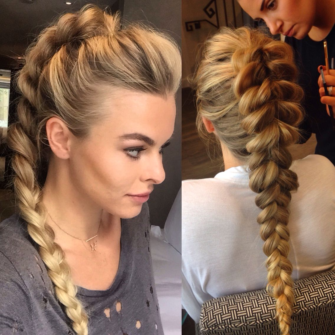 pull through ponytail braid braids pinterest