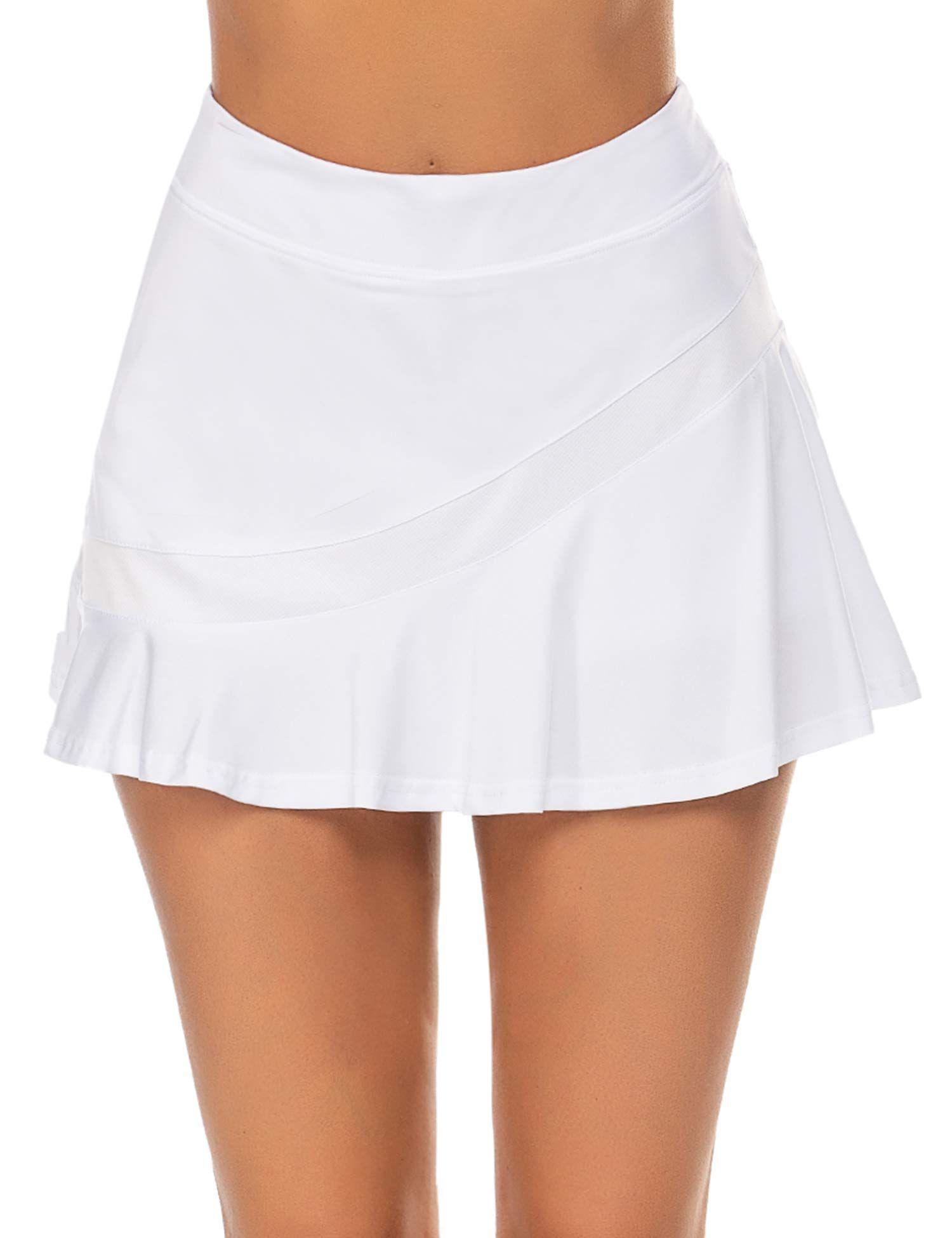 Buy Ekouaer Women's Athletic Golf Skorts Lightweight Skirt Pleated with  Pockets for Running Tennis Workout   Pleated tennis skirt, Lightweight  skirt, Golf skort