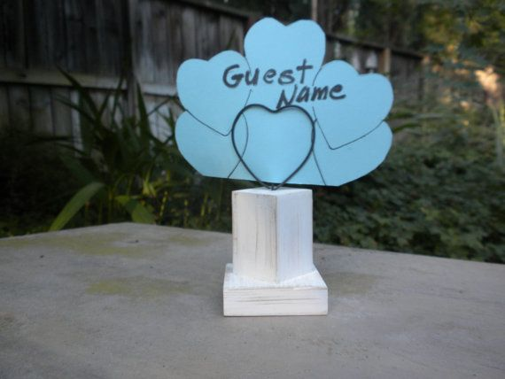 12  Shabby Chic  wood Table Number  Holders by craftsbymerle, $30.00
