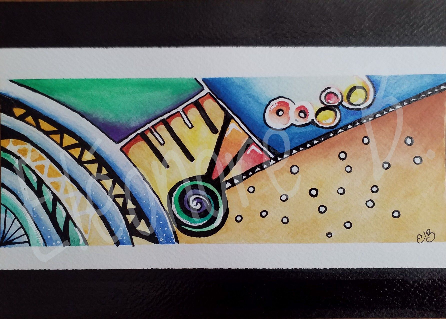 Peinture Aquarelle Et Encre De Chine Watercolor Ink Oreille