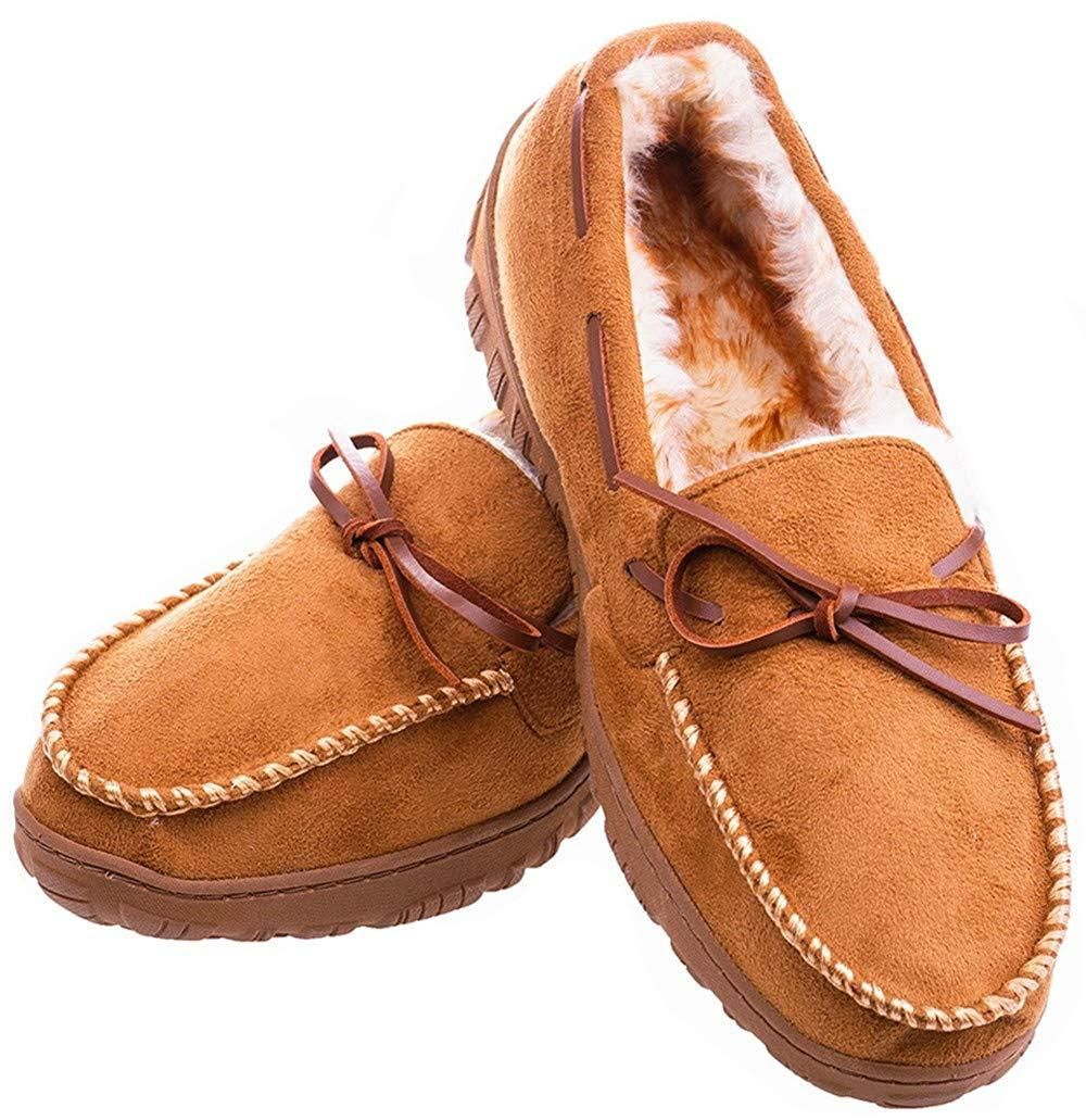 Men's Moccasin Slippers Warm
