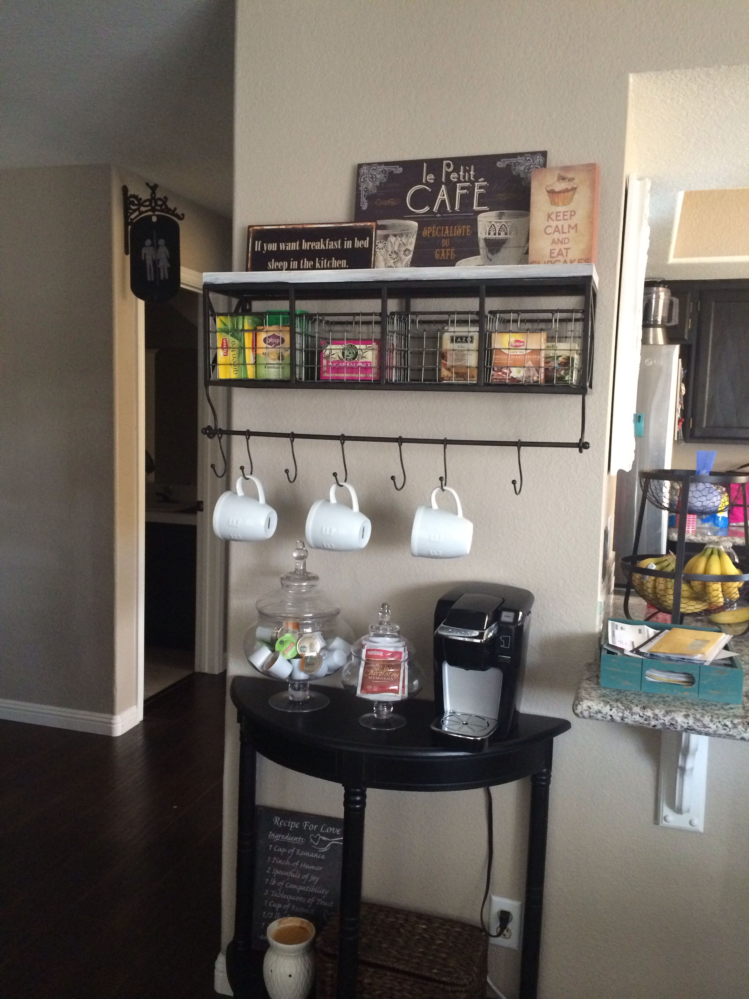coffee bar in kitchen pictures of wood cabinets and tea station the home i really like
