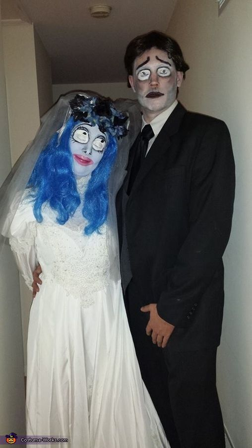 Corpse Bride and her Groom Couple Halloween Costume Idea  sc 1 st  Pinterest & Corpse Bride and her Groom - Halloween Costume Contest at Costume ...