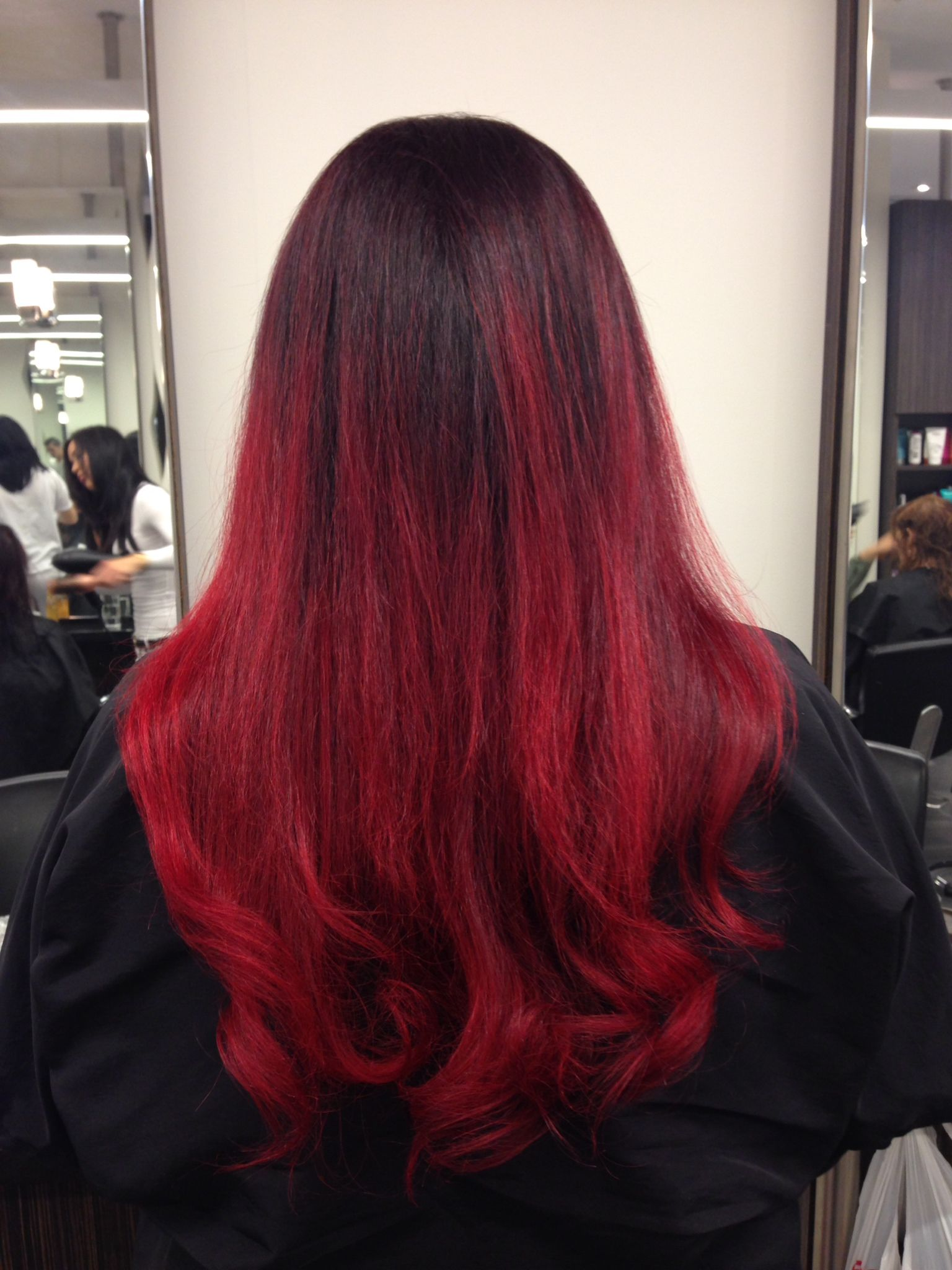 Pin By Angie Vargas On Our Work Hair Styles Red Ombre Hair Ombre Hair