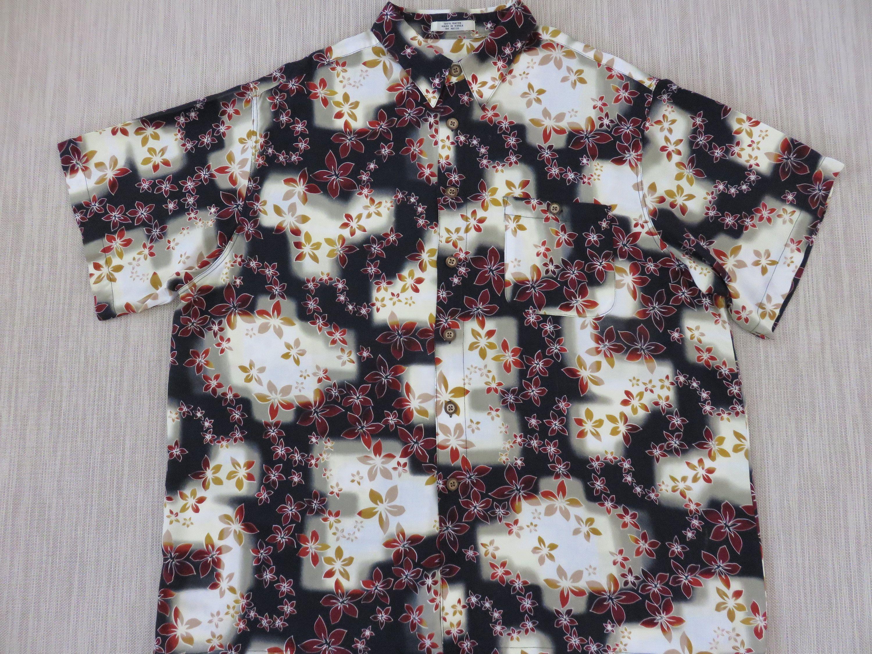 7c1c1950 Hawaiian Shirt Men RON CHERESKIN Black Hawaii Lei Aloha Shirt Plumeria  Flower Power Vintage Casual Camp - 2XL - Oahu Lew's Shirt Shack by  OahuLewsShirtShack ...