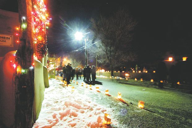 December's Lighting of Ledoux event helped bring a holiday glow to the community, photo by Rick Romancito.