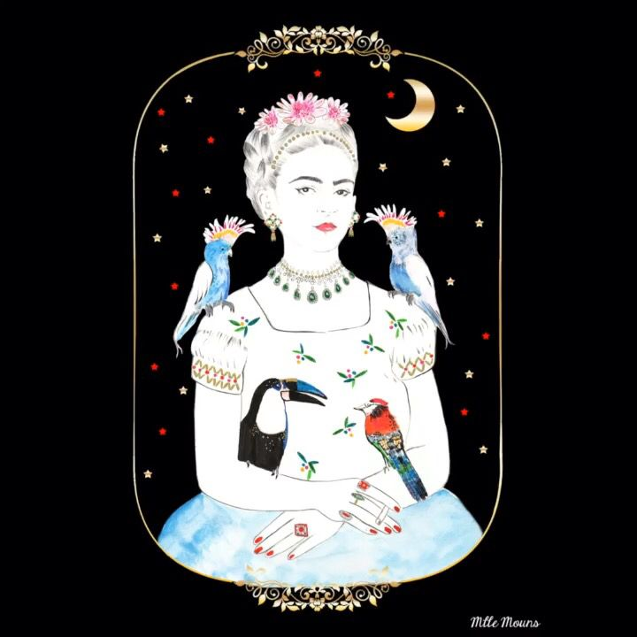 Frida Kahlo by mlle Mouns