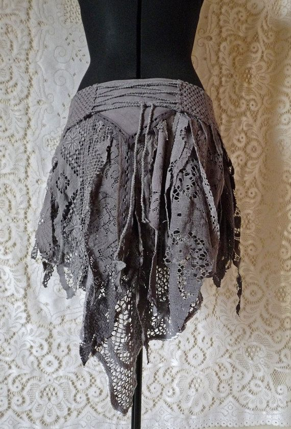 gray lace skirt tattered cosplay victorian steampunk boho the up cycle pinterest. Black Bedroom Furniture Sets. Home Design Ideas