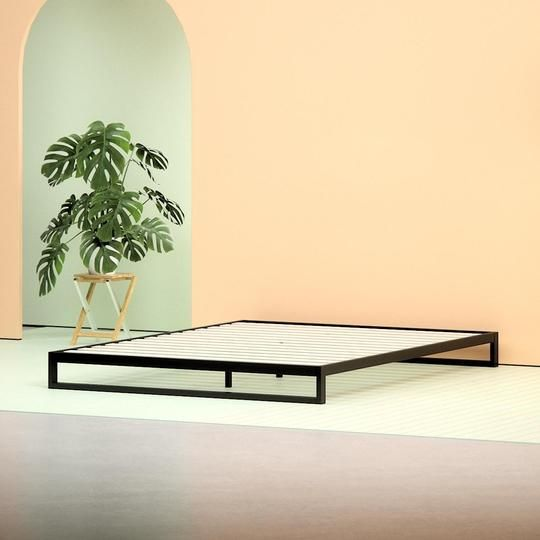 Best Steel Low Profile Platform Bed Frame Angle Shot Steel 400 x 300