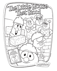 Free Activity The Little House That Stood Coloring Sheet