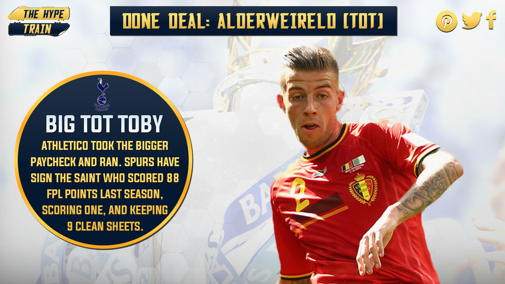 .@SpursOfficial have signed Toby Alderweireld from Athletico. Will the Saints take matters into legal action? #FPL