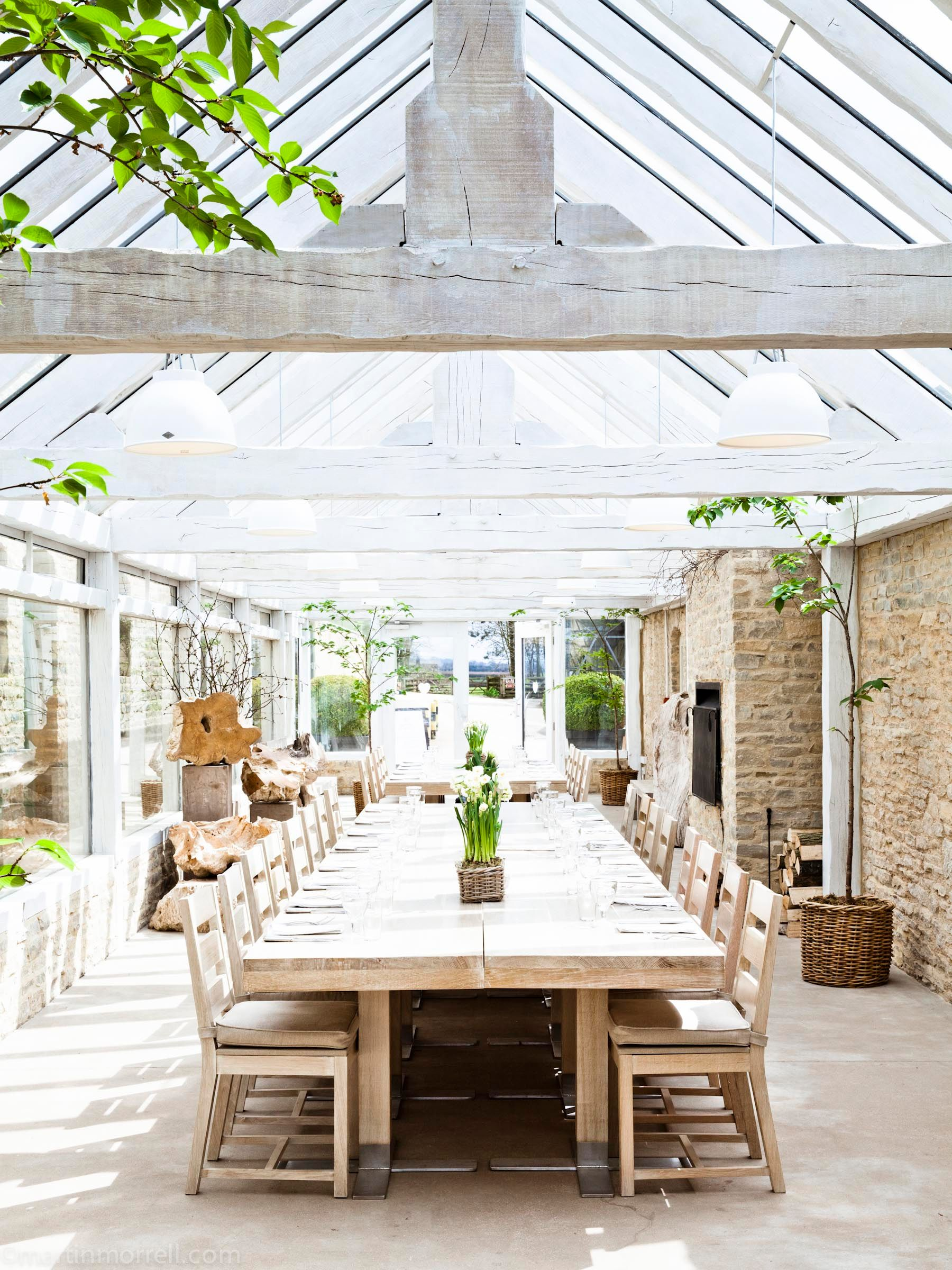 The Glasshouse at Daylesford Kingham. Available for events and ...