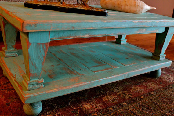 Wood Coffee Table Wooden Shabby Furniture French