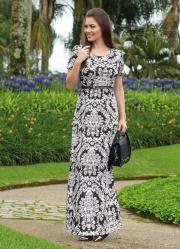 cbf55ceadd Vestido Longo (Arabescos) Moda Evangélica | moldes plus size ...