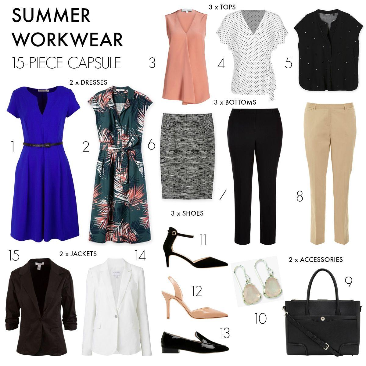 How To Create A 15 Piece Summer Workwear Capsule Wardrobe Workwear Capsule Wardrobe Capsule Wardrobe Mom Workwear Capsule [ 1200 x 1200 Pixel ]