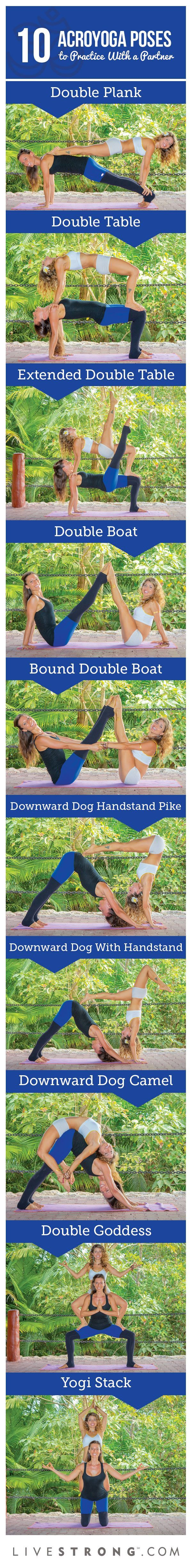 Couple Yoga Poses Table