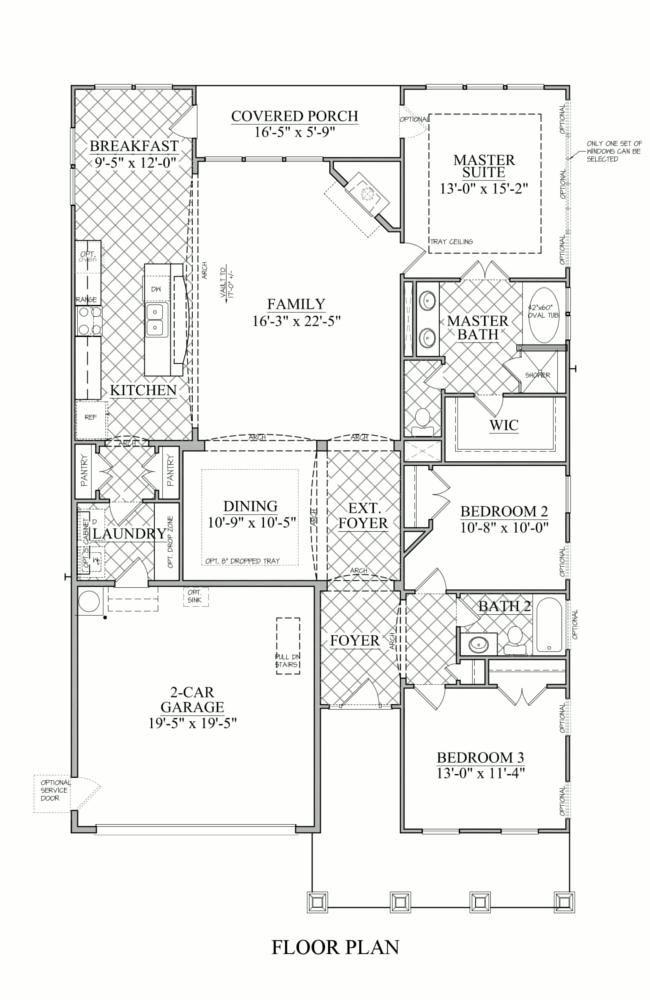 Wesley Model - 3 bedroom 2 bath new home in McAdenville, North Carolina - McAdenville Village | NC - Bonterra Builders