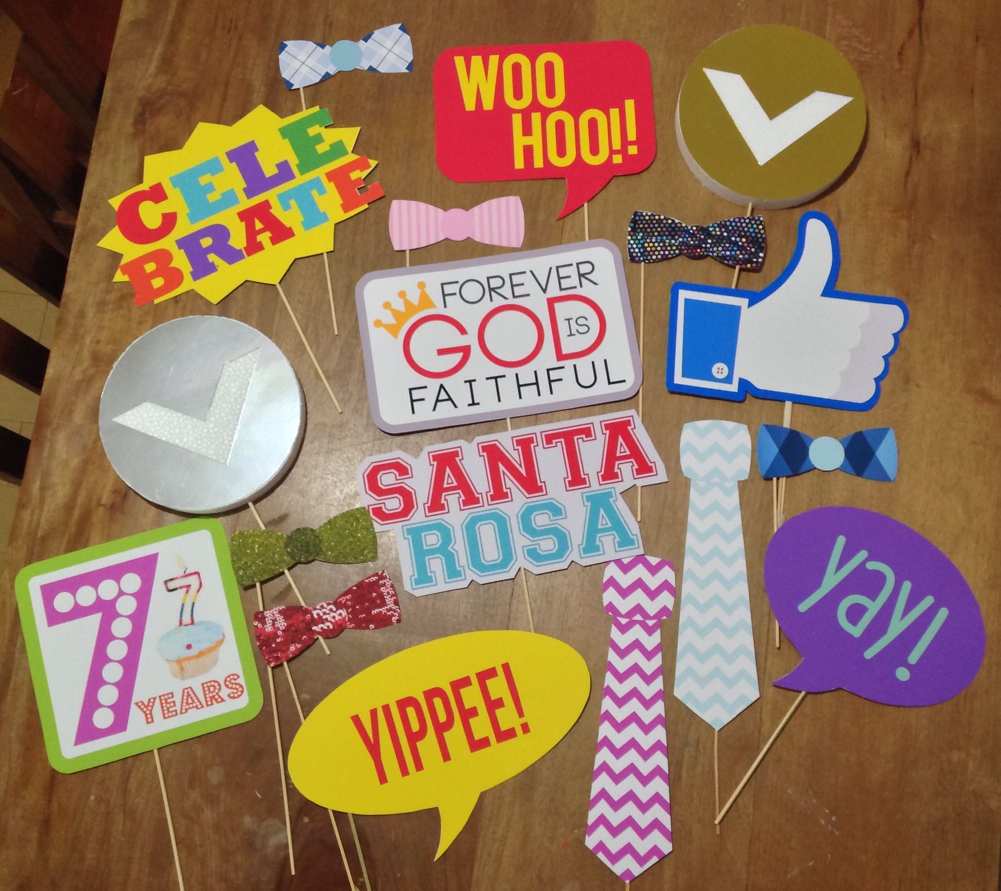 Photo Booth Props For A Christian Church Celebrating Its