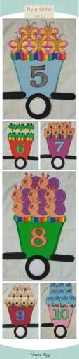 Trenzinho de numerais em eva