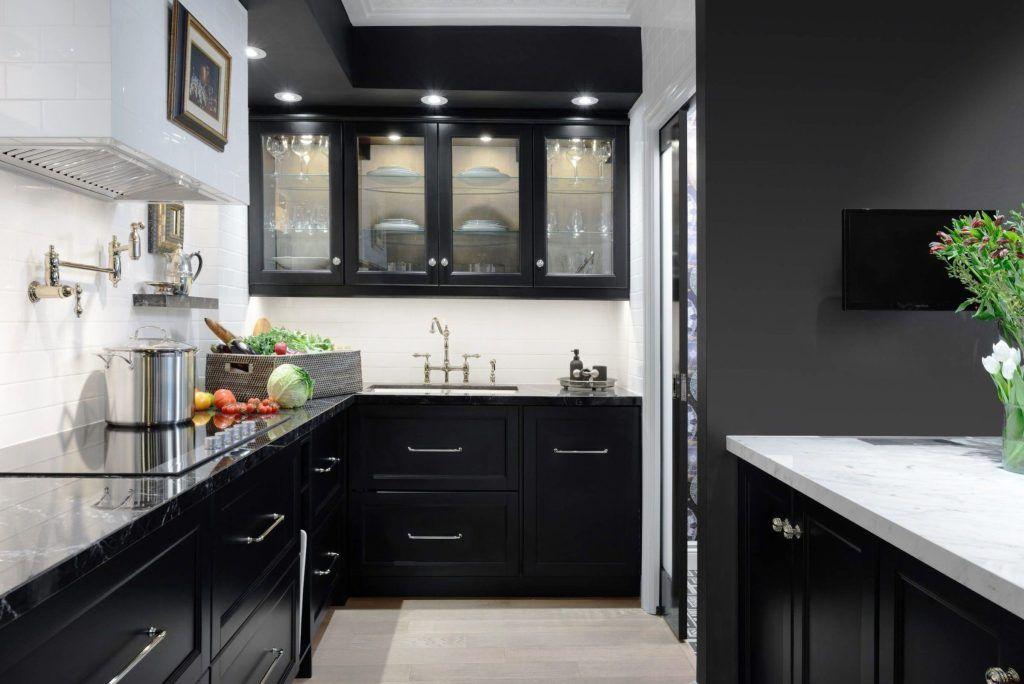 Ideas Para Los Colores De Gabinetes De Cocina Gabinetes De Cocinas Negros Disenos De Cocinas Pequenas Diseno De Cocina