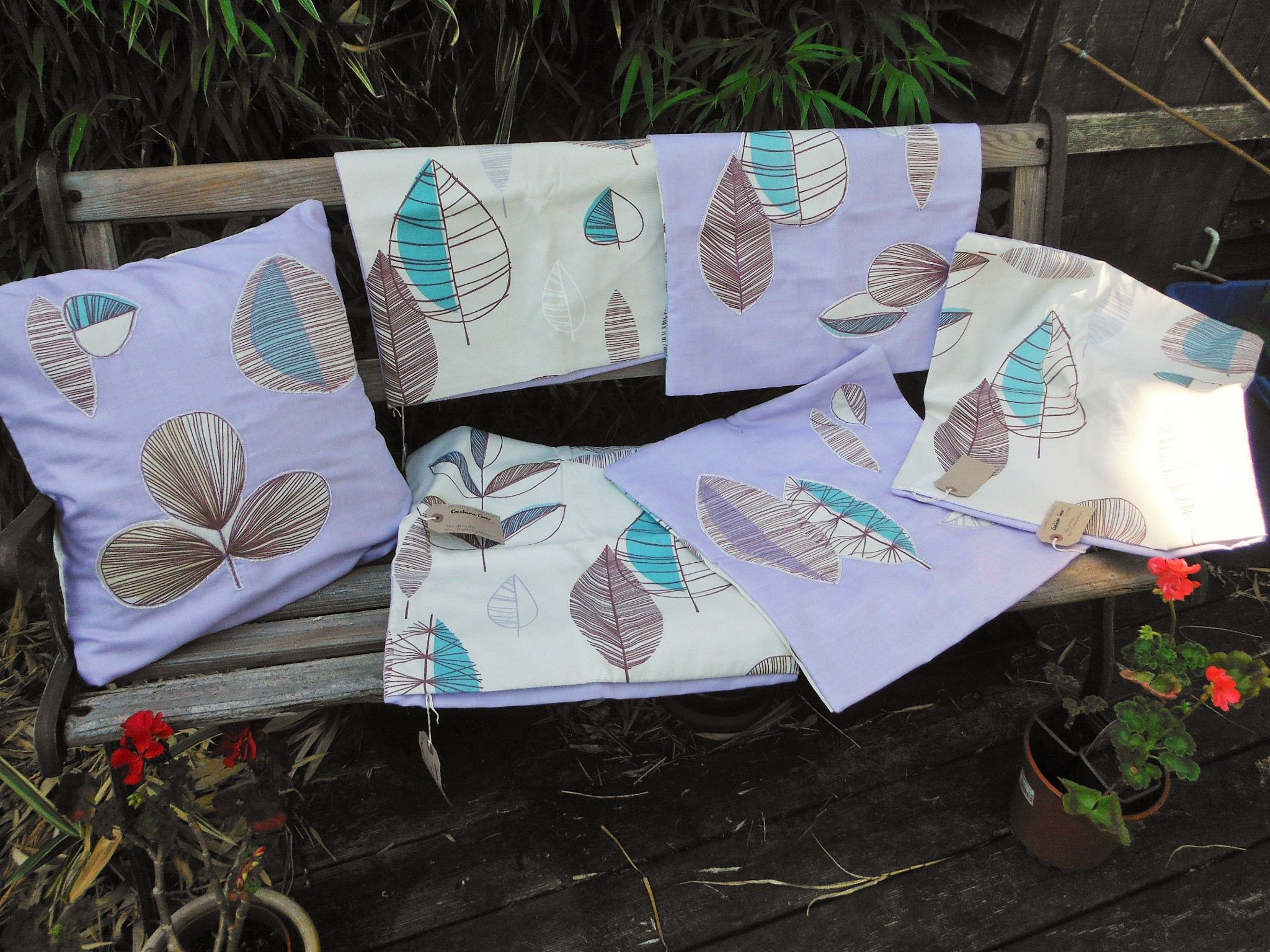 My vintage leaf design cushion covers available for sale at