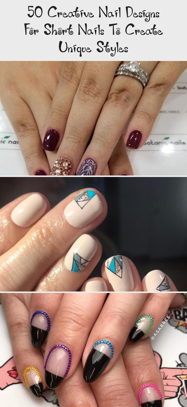 50 Creative Nail Designs For Short Nails To Create Unique