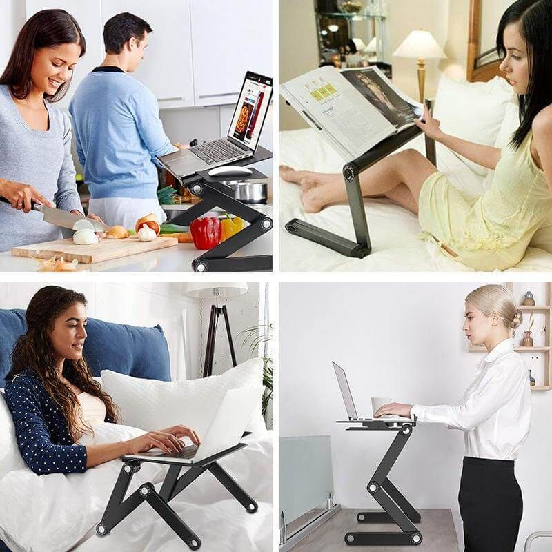 Folding Laptop Table Stand Portable Adjustable Laptop Desk For Couch Bed Braw Ease Desk Laptop Desk Folding Laptop Table