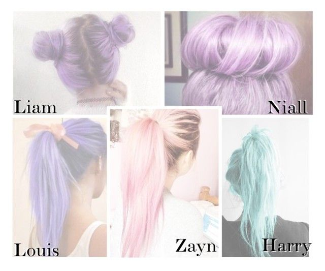 """""""1D- Pastel Hair."""" by reydel ❤ liked on Polyvore featuring OneDirection, 1d and OneDirectionPreferences"""