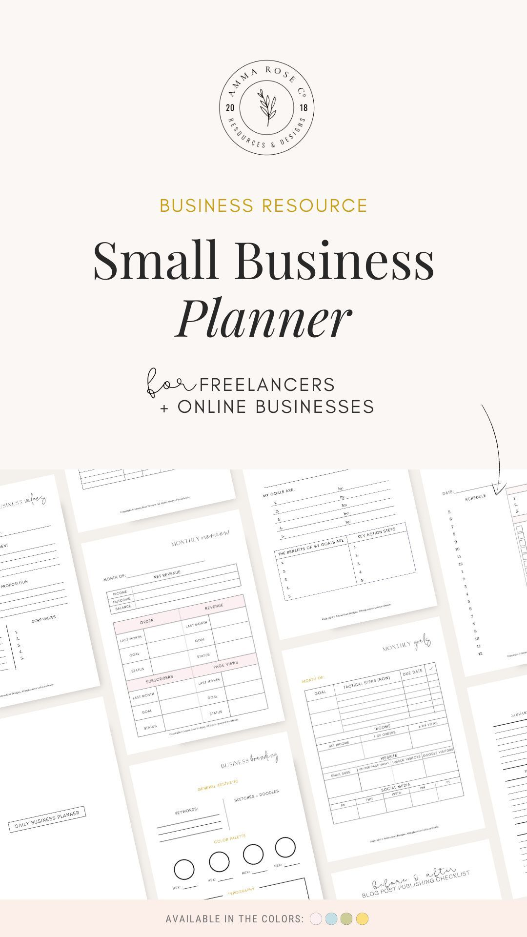 Small Business Planner Small Business Printable Planner