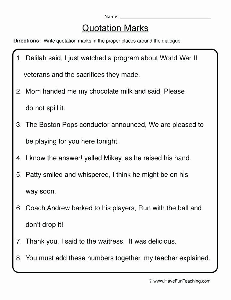 Commas Worksheets 5th Grade Resources Punctuation