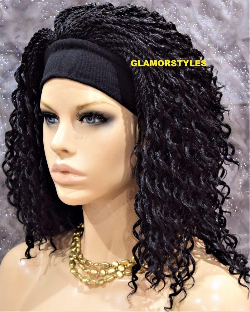 Spiral Curls Layered With Headband Dark Brown Full