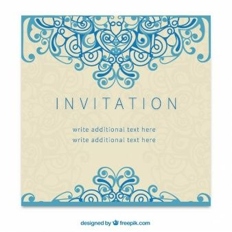 Download Wedding Invitation Template For Free Greeting Card Software Create Invitations Retro Invitation