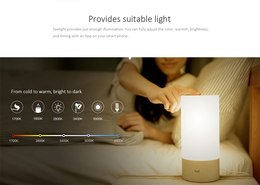 Original Xiaomi Yeelight Smart Lamp Rgb Light Wireless Touch Control Bluetooth Mood Lamps Lamp Smart Lights