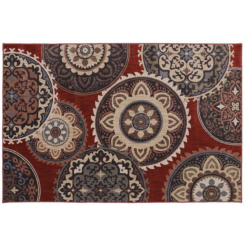 American Rug Craftsmen Dryden Summit View SmartStrand Medallion Rug - 9'6'' x 13', Multicolor
