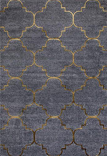Amazon Com Persian Rugs 4518 Gray 5x7 Moroccan Trellis 5