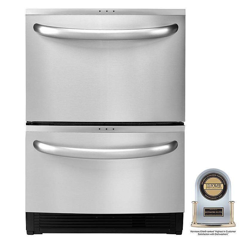 Kenmore Elite 31334 24 Double Drawer Dishwasher With Sliding