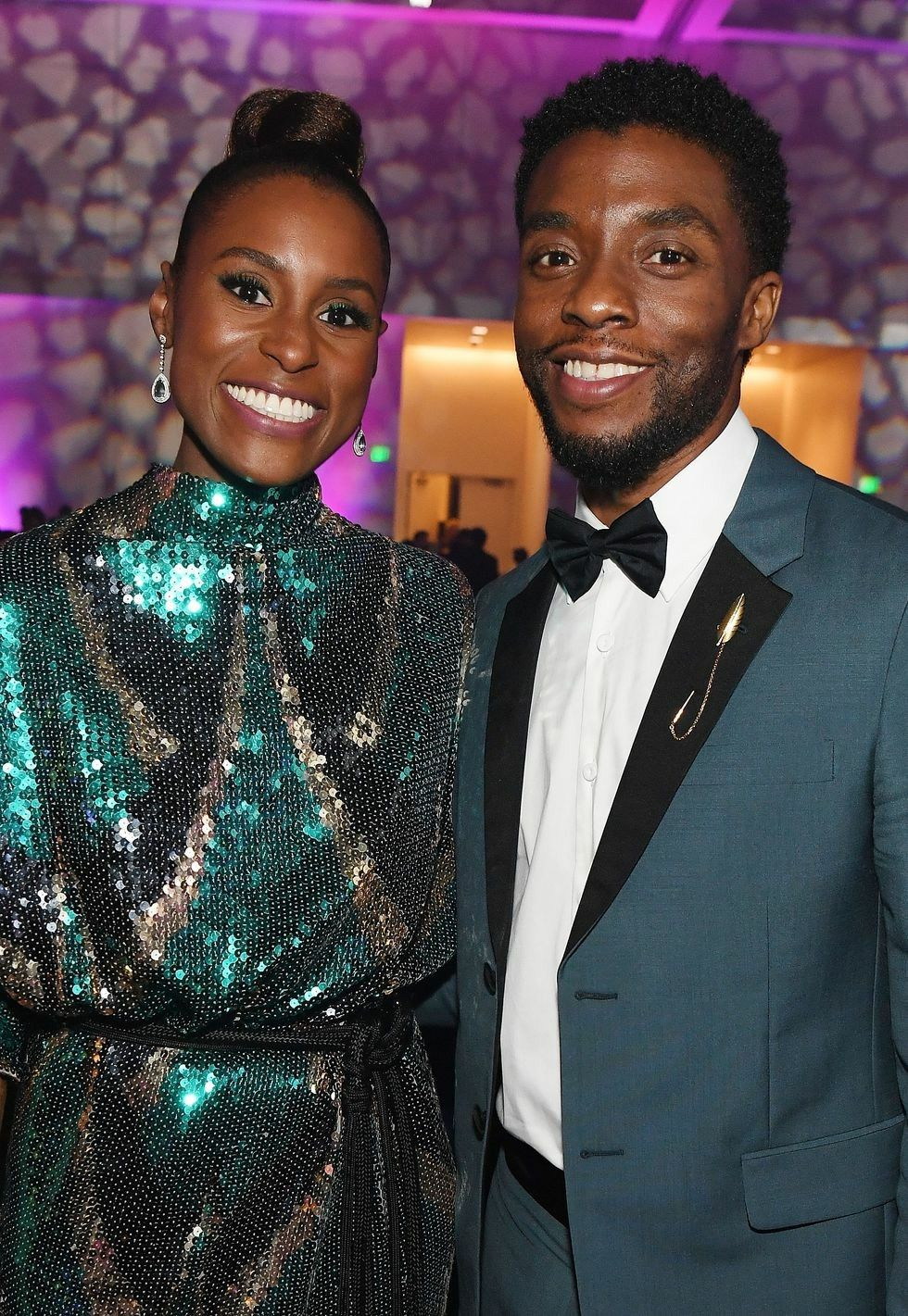 Issa Rae And Chadwick Boseman At The 49th Naacp Image Awards After Party Issarae Actress Naacp Issa Rae Chadwick Boseman Family Chadwick Boseman