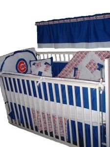 baby nursery crib bedding set w/chicago cubs fabric new | chicago